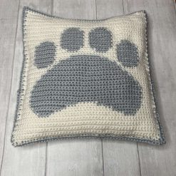 Puppy Cuddle Pillow in Grey - a request from your new puppy. New puppy gift