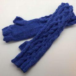 Alpaca Fingerless Gloves - Jade
