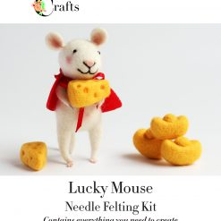 MillyRose Crafts Mouse with Cheese Needle Felting Kit