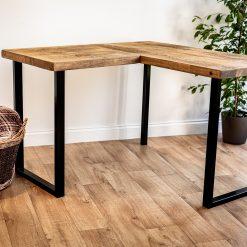 Home Office Desk - L Shape Industrial Style Desk - Corner Home Desk - Work Table