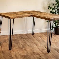 Home Office Desk - L Shape Hairpin Leg Desk - Corner Home Desk - Work Table