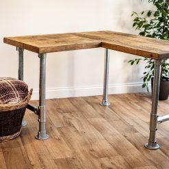 Home Office Desk - L Shape Scaffolding Leg Desk - Corner Home Desk - Work Table
