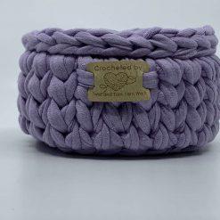 Mini Basket, Jewellery Basket, Trinket Basket, Key Basket, Coin Basket, Upcycled, Reduce, T Shirt Yarn, Organisation, Handmade to Order