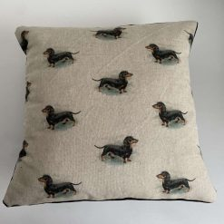 Mini Dachshund Cotton and Velvet cushion