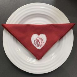 Pair of personalised heart napkins 1