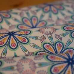 1/2 Mtr Heart Floral On Cream / Lewes & Irene 100% Cotton Fabric