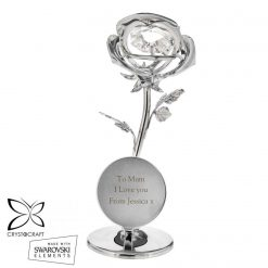 Personalised Crystocraft Rose Ornament valentines or mothers day gift 15