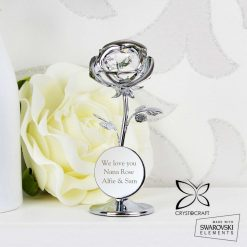 Personalised Crystocraft Rose Ornament valentines or mothers day gift 13