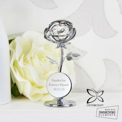 Personalised Crystocraft Rose Ornament valentines or mothers day gift 10