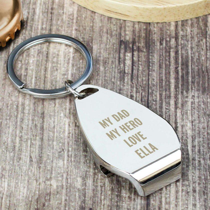 Personalised Any Message Bottle Opener Keyring 8