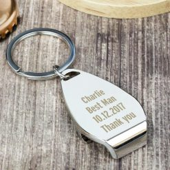 Personalised Any Message Bottle Opener Keyring 14