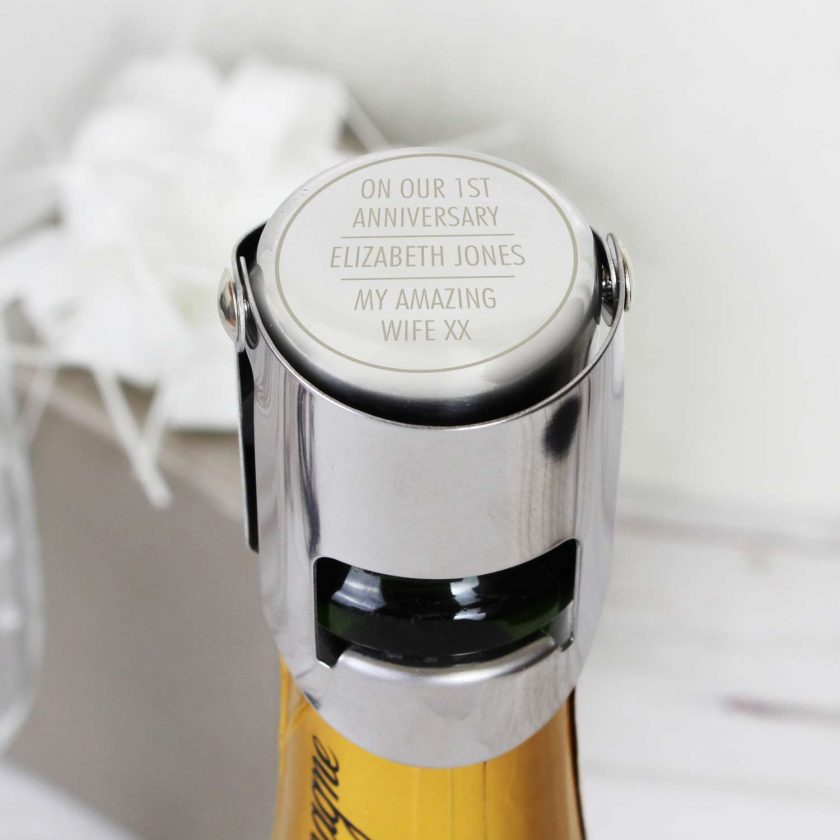 Personalised Classic Wine Bottle Stopper 7