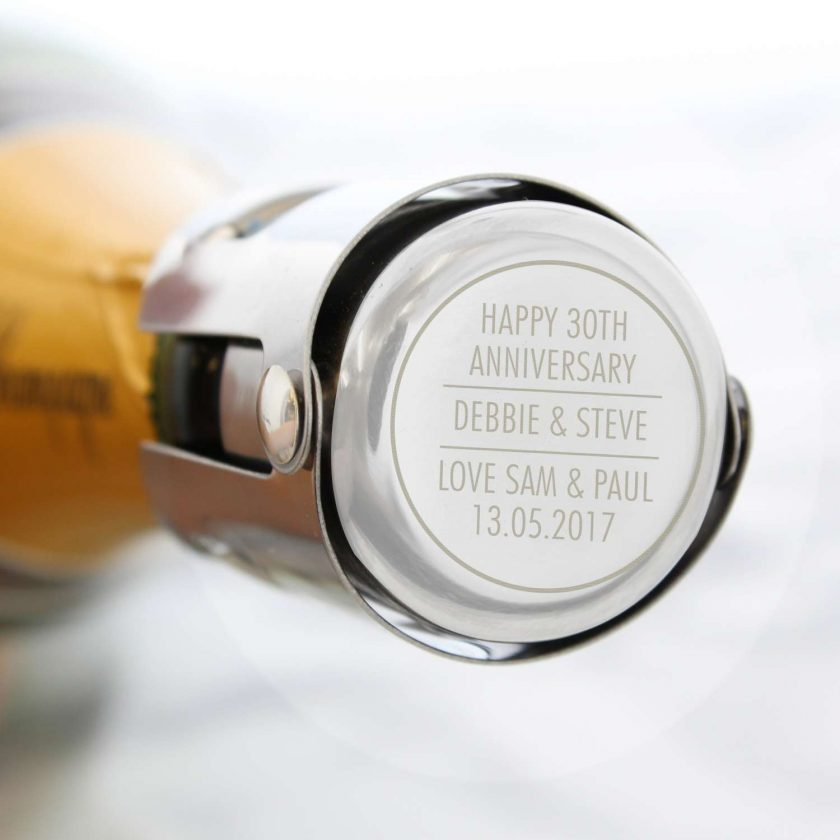 Personalised Classic Wine Bottle Stopper 5