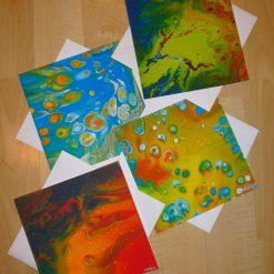 -Art printed greetings card Bundle of 4