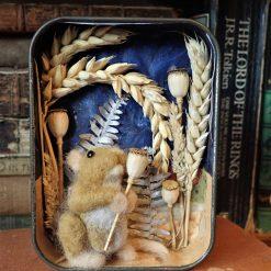 Needle Felt Fox In A Tea Cup Sculpture, Fibre art, Felt Fox, Wildlife art, Gift, needle felting, Fox