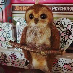 Needle Felt Owl, Needle Felted Animal, wool sculpture, Felted owl, Fibre Art, Sculpture, Gift, Woodland Creature
