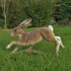 Needle felt Hare, Needle felt Animal, Fibre Art, Wildlife Art, Animal Sculpture, Woodland Creature, Hare, Running Hare