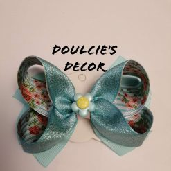 Beautiful Swan hair bow by Doulcie's Decor
