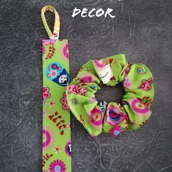 Set of bookmark and scrunchie by Doulcie's Decor (green russian dolls)