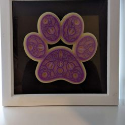 3D Layered Pawprint Box Frame