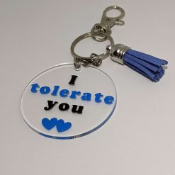 I tolerate you - Keyring