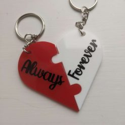 I Love You - Keyring - Black and Orange