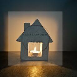 Concrete Tea Light House