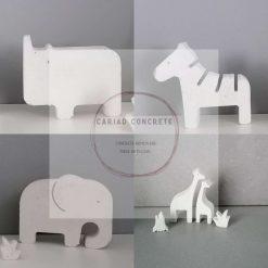 Concrete Individual Concrete Safari Animals