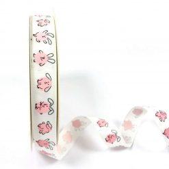 Bertie's Bows - Ribbon -Pink Rabbits