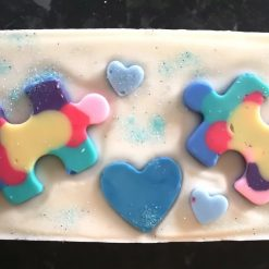 Autism awareness wax melt loaf custom made