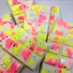 Birthday cake snap bar wax melts scented in fruity jam and vanilla fragrance