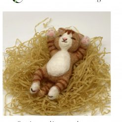 MillyRose Crafts Snoozing Cat Needle Felting Kit