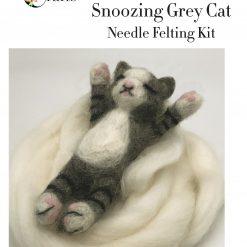 MillyRose Crafts Grey Snoozing Cat Needle Felting Kit