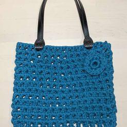 Crochet Shoulder bag, Ladies Shoulder bag, Shoulder Bag, Shopping Bag, Upcycled, Reduce, Gift for Her, T Shirt Yarn, Handmade to Order