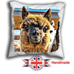 Alpaca Cushion Cover, Brown Alpaca Cushion, 6 sizes, Handmade