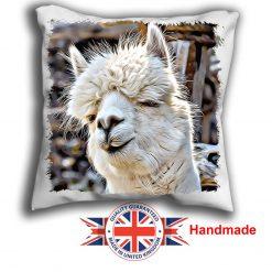 Alpaca Cushion Cover, White Alpaca Cushion, 6 sizes, Handmade