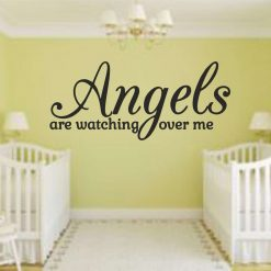 Angels-are-watching-over-me wall art Decal Sticker home decoration