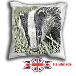 Badger Cushion Cover, Badger Cushion, 6 sizes, Handmade