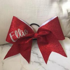Personalised Glitter Cheer Bow