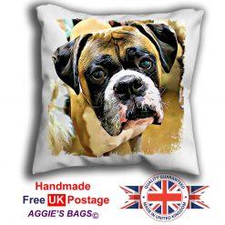 Boxer Cushion Cover, Boxer Cushion, Boxer Pillow, 6 Sizes, Handmade