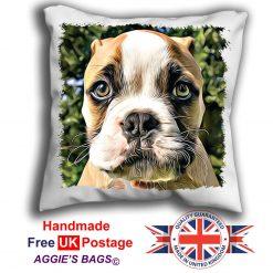 Boxer Pup Cushion Cover, Boxer Pup Cushion, Boxer Pillow, 6 Sizes, Handmade