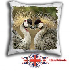 Crain Brid Cushion Cover, Two Crain Birds Cushion, 6 sizes, Handmade
