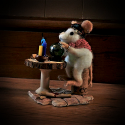 Mystic Mouse Fortune Teller, Needle Felt Animal, Needle Felt Mouse, Fortune telling, Fantasy art, needle felting, fibre art, wildlife art, animal art,