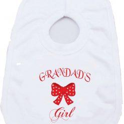 Grandads Girl Birthday Christmas Present gift one-piece Sublimation Babygro White Baby Vest or bib 1