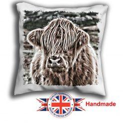 Highland Cow Cushion Cover, Highland Cow Cushion, 6 sizes, Handmade