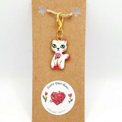 Cat stitch marker/progress keeper /bag charms