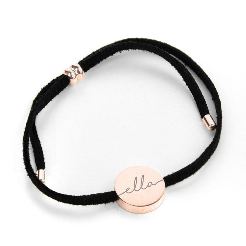Personalised Always with You Name Black Bracelet 7