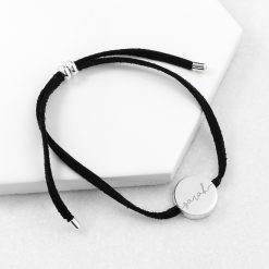 Personalised Always with You Name Black Bracelet 12