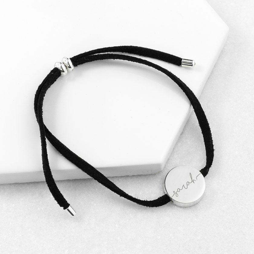 Personalised Always with You Name Black Bracelet 6
