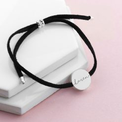 Personalised Always with You Name Black Bracelet